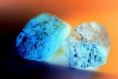 Blaue Kristalle